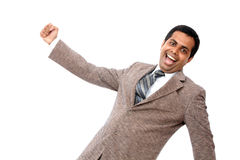 Indian young businessman enjoying Royalty Free Stock Photos