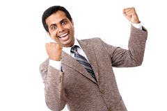 Indian young businessman enjoying Royalty Free Stock Image