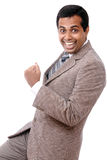 Indian young businessman enjoying Royalty Free Stock Photo