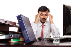 Indian young businessman in stress Stock Photography