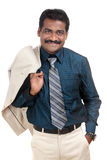 Indian young businessman on white Stock Images