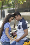 Indian young couple at Marine Drive Mumbai India. Royalty Free Stock Photo