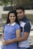 Indian young couple at Marine Drive Mumbai India. Stock Images