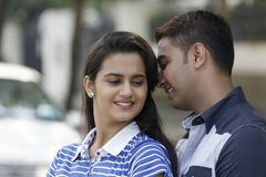 Indian young couple at Marine Drive Mumbai India. Stock Photography
