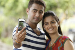 Indian young couple at Marine Drive Mumbai India c Stock Photography