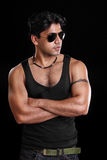 Indian young fitness man Royalty Free Stock Photo