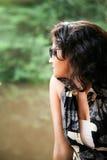 Indian Young girl enjoying nature Royalty Free Stock Photos