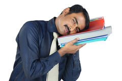 Indian Young Man Holding The Files Stock Photography