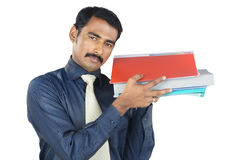 Indian Young Man Holding The Files Royalty Free Stock Photo