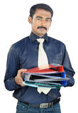 Indian Young Man Holding The Files Stock Images