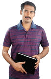 Indian Young Man with Laptop Stock Images