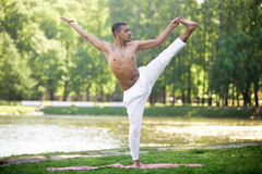 Indian Young Man Practicing Yoga Royalty Free Stock Image