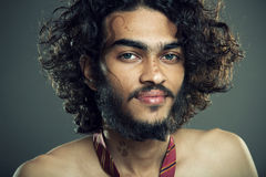 Indian young man with tattoo Stock Images