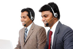 Indian young people working in call center Stock Photo