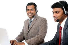 Indian young people working in call center Stock Images