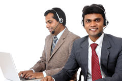 Indian young people working in call center Stock Image