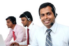 Indian young people working in call center Royalty Free Stock Image