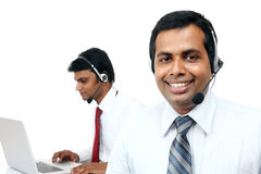 Indian young people working in call center Royalty Free Stock Photo
