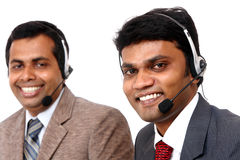 Indian young people working in call center Royalty Free Stock Images