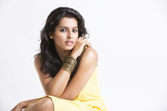 Indian young pretty girl. Royalty Free Stock Image