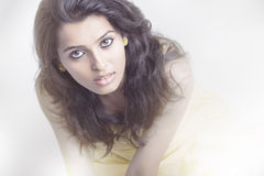 Indian young pretty girl portrait. Royalty Free Stock Image