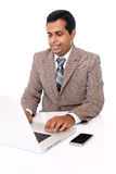 Indian young professional working Royalty Free Stock Photo