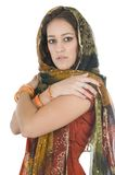 Indian young woman in traditional clothing Stock Photo