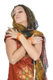 Indian young woman in traditional clothing Stock Photography
