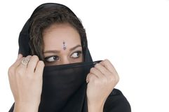 Indian young woman with vell Stock Photo
