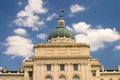 Indiana Capital Building Stock Photos