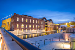 Indiana Central Canal. Downtown of Indianapolis by Indiana Central Canal area Royalty Free Stock Photos