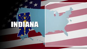 Indiana Countered Flag och informationspanel lager videofilmer