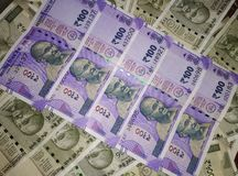 Indiana currency and note of Rupees 100 royalty free stock photography