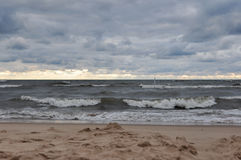 Indiana Dunes State Park beach, Indiana, USA.  Royalty Free Stock Photos