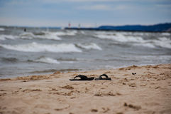 Indiana Dunes State Park beach, Indiana, USA.  Royalty Free Stock Images