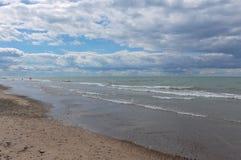 Indiana Dunes State Park beach, Indiana, USA.  Stock Photos