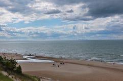 Indiana Dunes State Park beach, Indiana, USA.  Royalty Free Stock Image