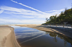 Indiana Dunes State Park Main Beach royalty free stock photography