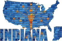 Indiana en una pared de ladrillo Imagen de archivo