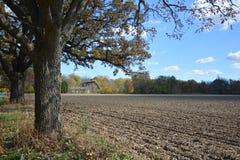 Indiana Farmhouse im Herbst Lizenzfreie Stockfotos