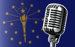 Indiana Flag And Microphone Background Images libres de droits