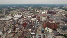 Indiana Indianapolis aerea stock footage