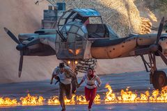 Free Indiana Jones Escaping From An Impending Explosion At Hollywood Studios 56 Stock Photos - 160239513
