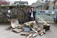 Indiana Jones, Wray Scarecrow Festival, Lancashire Royalty Free Stock Photos