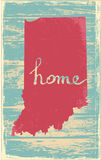 Indiana nostalgic rustic vintage state vector sign. Rustic vintage style U.S. state poster in layered easy-editable vector format Royalty Free Stock Image