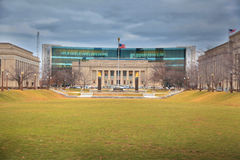 Indiana public library in American Legion mall Royalty Free Stock Photo