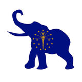 Indiana Republican Elephant Flag Fotografía de archivo libre de regalías