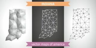 Indiana-Satz Grau und polygonale Karten des Silbermosaiks 3d Grafische Vektordreieckgeometrieentwurfs-Schattenperspektive zeichne Stockbild