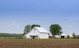 Indiana-Scheunen auf einem schönen Bauernhof lizenzfreie stockfotos