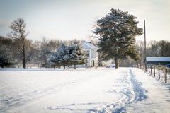 Indiana Snow Royaltyfria Bilder